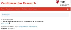 Teaching cardiovascular medicine to machines